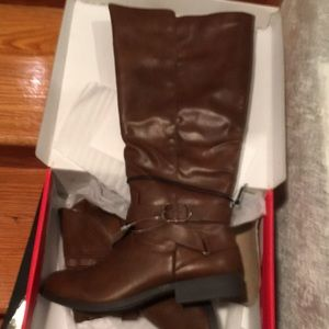 NIB Madixe Cognac Knee High Boots Style and Co